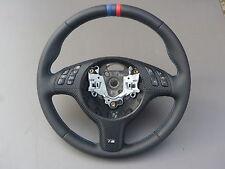 volant en cuir BMW E46 E39 Z3 M Volant avec écran multifonctionnel Tris rayures