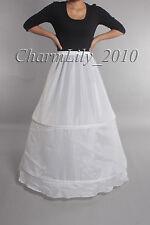 white 2 hoop bridal wedding petticoat underskirt prom skirt crinoline slip skirt