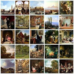 Art Photo Print Landscapes 16- 1800's Rural scenes 10x8 inches and A4