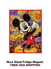 407 - Van Gough Mickey Mouse Saying Refrigerator Fridge Magnet