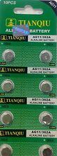 80 TIANQIU  AG11 362 Watch Batteries  Clock, Toys, LED light, Calculator,