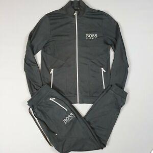 Authentic HUGO BOSS Mens Full Tracksuit Set in Black, size L