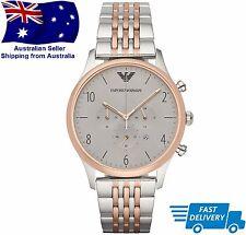 Emporio Armani Mens AR1864 Two Tone Bracelet  Chronograph Designer Wrist Watch