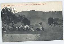 Glenwood Baseball Ground Field Game DELAWARE WATER GAP PA Vintage Postcard