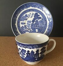 Johnson Brothers WILLOW BLUE (Made In England) Cup and Saucer