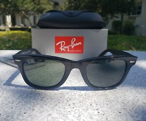 Brand New  RAY BAN Original  WAYFARER  Sunglasses  RB 2140 901 Black Frame  50mm