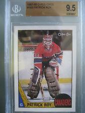 1987 O-Pee-Chee Hockey #163 Patrick Roy BGS 9.5 Gem Mint