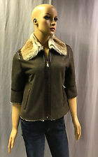 NEW D&G BY DOLCE GABBANA 3/4 SLEEVE LAMB SHEARLING JACKET COAT SZ 42