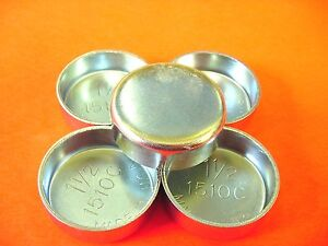 """Fit Ford 5pk 1-1/2"""" Freeze Expansion Plugs Zinc Plated Steel Engine Cylinder NOS"""