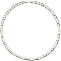 6,4mm Collier Halskette Halsreif Halsschmuck teilmattiert Edelstahl 47cm, Damen