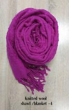 Discounted Women Winter Warm Soft 100% MERINO WOOL Blanket Scarf Wrap Shawl