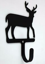 Village Wrought Iron Deer Wall Mount Coat Hook Cabin Decor