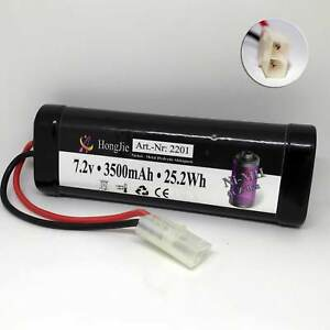 Akku Batterie 7,2V 3500mAh Ni-MH NiMh Sub-C X-treme Tuning RC Car Auto Tamiya