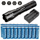 Super Bright Tactical LED Flashlight+ 3.7V Li-ion Rechargeable Batteries+Charger For Sale