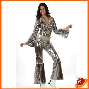 Costume Carnevale  Donna Ragazza Disco Cow Girl Dance Abba Queen  Tg 44-46