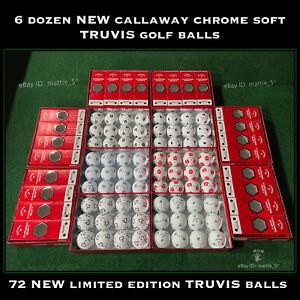 (6) Dozen Callaway Chrome Soft TRUVIS Golf Balls - 72 NEW Limited Edition Balls