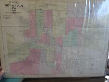 ORIGINAL - MAP OF SCRANTON PA - 1904 R.L. POLK & CO - 22 BY 30-1/2 IN - BREAKERS