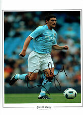 Gareth BARRY Signed Autograph 16x12 Manchester City Photo AFTAL COA