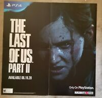 Last of Us Part 2 HUGE PlayStation 4 Promotional Poster 4 pcs 48 x 48 Sony PS4