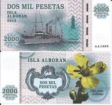 2000 Pesetas Spain - Isla Alboran 2014 UNC Private Issue