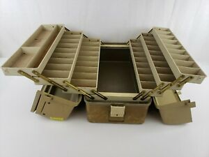 Vintage Plano 8600 6 Tray Fishing Tackle Box Large Storage Lockable Double Latch