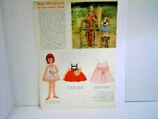 Vintage Betsy McCall Goes To Fairy-Tale Land Paper Doll Page 1962 Issue Uncut