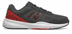New Balance Men's 517v2 Shoes Grey with Black & Red