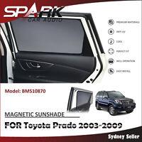 MAGNETIC CAR WINDOW SUN SHADE BLIND MESH REAR DOOR FOR Toyota Prado 2003-2009 SP