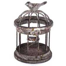 Adorable Small Iron Bird Cage with Bird on Top. Free Shipping