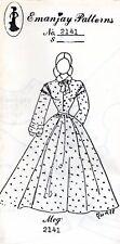 "1:12 scale Emanjay Dollhouse Doll Clothes pattern #2141 ""Meg"" Little Women uncut"