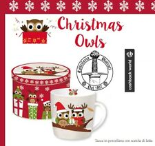 EASYLIFE DESIGN MUG GUFI XMAS owls scatola latta idea regalo tazza christmas