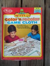 Vintage Avalon Color n Recolor Henson Muppets 40 x 36 Plastic Game Cloth in Box