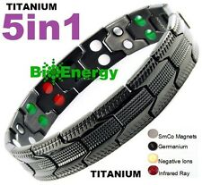 TITANIUM Magnetic Energy  Armband  Power Bracelet Health Bio 5in1 Bio GERMANIUM