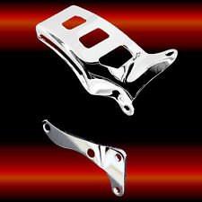 Chrome Alternator Brackets For Sb Chevy 350 383 400 With Long Water Pump 1976-86