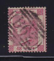 Hong Kong Sc #21 (1863-80) 48c carmine rose B62 Numeral Used (CAT $30)