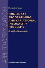 Applied Optimization Ser.: Nonlinear Programming and Variational Inequality...