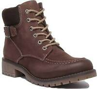 Justin Reece England Emma Womens Leather Ankle Boots In Brown UK Sizes 3 - 7
