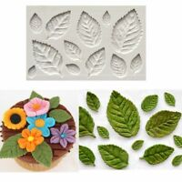 Decorating Tool Sugarcraft Cake Mould Silicone Mold Fondant Rose Flower 3D Leaf