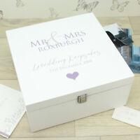*Personalised* Large Mr & Mrs / Mr & Mr / Mrs & Mrs Wedding Memory Keepsake Box