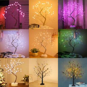 LED Blossom Tree Bonsai Light Bedside Desk Table Lamp Christmas Party Home Decor
