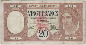 New Hebrides 20 Francs 1941 P-6
