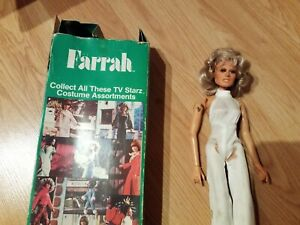 VINTAGE 12 INCH FARRAH FAWCETT MAJORS DOLL WITH BOX MEGO 1977 CHARLIES ANGELS