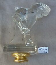 """Lamp Finial Blown Crystal Art Glass Horse Mid Century Very Deco 4 1/2"""" h  (RA)"""