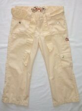 ONeill peach chino capri cropped belted shorts summer beach jrs 3 W28 L23