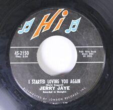 Rock 45 Jerry Jaye - I Started Loving You Again / Long Black Veil On London Reco