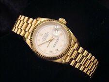 Rolex Datejust President Ladies Solid 18K Yellow Gold Watch White Roman 69178