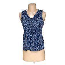 Ann Taylor Loft Women's Sleeveless Top, size XS,  blue/navy, light blue,  cotton