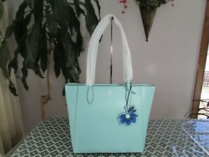 NWT Kate Spade Saffiano Leather Dana Tote Aqua Bloom