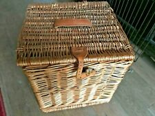 Vintage style wicker storage basket