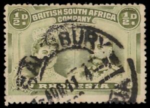 """RHODESIA 101a (SG121) - Queen Mary and King George V """"Olive Green"""" (pa81893)"""